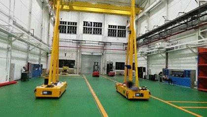 【万象】智慧物流展:双车联动智能全向移动龙门吊的应用亮点